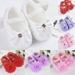 Baby Newborn Toddler Girl Crib Shoes Pram Prewalker Anti-slip Sneakers Brethable