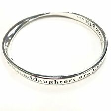Equilibrium Silver Plated BANGLE BRACELET GRAND DAUGHTER gift engraved BOXED