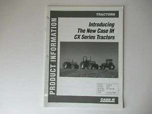 1998 Case CASEIH CX series tractor product data info brochure