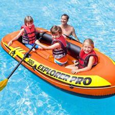 Inflatable Intex Explorer Pro 300 3-Person Boat Raft Oars Pump Set
