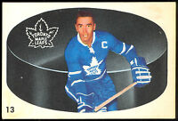 1962 63 PARKHURST HOCKEY #13 GEORGE ARMSTRONG EX+ TORONTO MAPLE LEAFS CARD