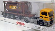 "Wiking NEW HO 1/87 MAN Tractor Trailer Container Tanker Swiss ""Bertschi"""