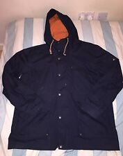 Men's H&M Logg, Navy Hooded Coat, Size XL