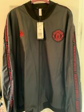 manchester united adidas jacket xxl new black