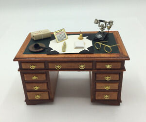 Dolls House Desk, With Accessories