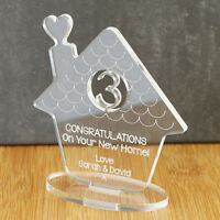 Personalised New Home Family Ornament Keepsake Gift Idea for Parents, Families