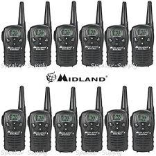 12 Pack Midland Xtra Talk LXT118 Two Way Radio Walkie Talkie 18 Mile Set 22 ch.
