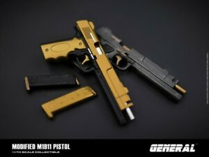 GENERAL GA-006 1/6 Modified M1911 pistol Weapon Gun Model F 12'' Soldier Figure