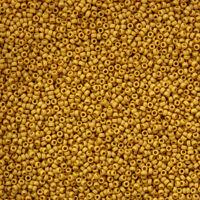 Miyuki Size 15/0 Matte Opaque Mustard 15-1233 Round Seed Beads 8.2g (N23/5)