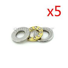 5 pcs F6-12M Axial Thrust Ball Bearings 6mm x 12mm x 4.5mm