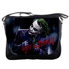 School Messenger Bag Joker Batman Why So Serious Shoulder Travel Notebook Bags