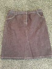 Women's Kenneth Cole New York Denim Jean Skirt Size 8 Brown EUC