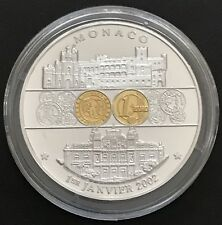 Medaille MONACO 1. Januar 2002 • VEREDELT • Ø 40 mm - 30 g • PROOF in Kapsel
