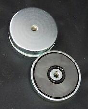 De sujeción / Lifting / Colgar Imán 50mmd X 10mmh C/w 6mm Agujero. de ferrita.