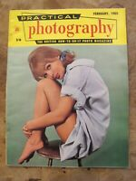 February 1965 Practical Photography magazine - Pretty lady on stool