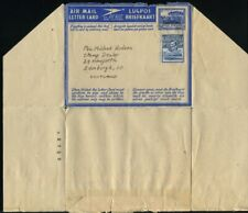 BASUTOLAND AIR LETTERS STATIONERY OVERPRINT GEORGE SIXTH 1954