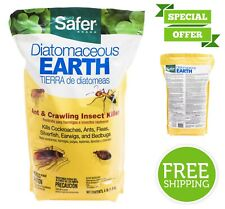 Safer Diatomaceous Earth Based Powder Bed Bug Flea Ant Crawling Insect Killer