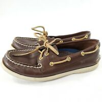 Sperry Top Sider Womens Boat Shoes Loafers Brown Leather Shoe Size 5.5