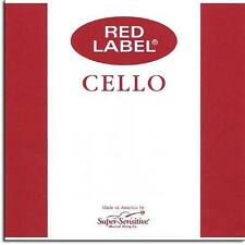 Super-Sensitive Red Label 4/4 Cello A String: Medium