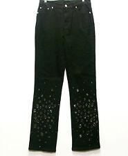 DG2 Jeweled Boot Cut Stretch Denim Jeans BLACK 4T 4 Tall New with Tags Inseam 32