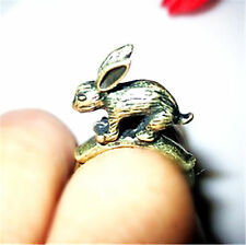 Vintage antique style rabbit bunny ring