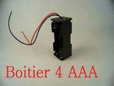 Boitier Bloc Support Coupleur 4 Piles AAA R3 LR3 LR03 4.8V ou 6V 10440 Carré