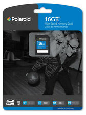 16GB Polaroid SDCH Class 10 Model P-SDHC16G10-EFPOL High Performance SD Card