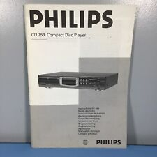 Philips CD-753 CD Player Operating Instruction Manual #25