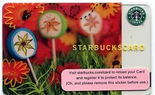 2006 NEW - UNUSED Wildflower Lollipops Starbucks Cards