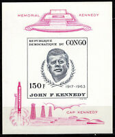 Congo Democratic Republic Sc #591 S/S MNH Imperf - Pres. Kennedy - CV $20