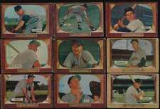 1955 Bowman Baseball G avg lot of 67 different cards vy low grade BV $831 56902
