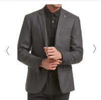 Saba Mens Stephen Item Jacket Charcoal Size 36 BNWT RRP $549.00