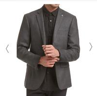 Saba Mens Stephen Item Jacket Charcoal Size 36 BNWT RRP $549.00