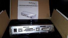 StarTech SV211KDVI 2 Port Compact USB DVI External KVM / audio / USB switch