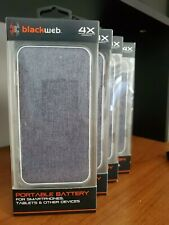 New Blackweb 10,000 mAh Portable Battery For Smartphones Tablets & Other Devices