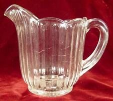 Inside Flute Creamer Early American Pattern Glass Clear MAKER HELP (O2)