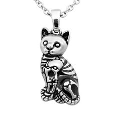 KITTY CAT SKELETON NECKLACE WITH BLACK EPOXY BY CONTROSE