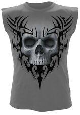 Spiral solemn Skull Tank Top Gothic Monstruo Zombie camisa tribal Reaper #3221 644