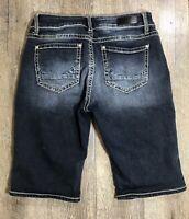 Daytrip Buckle VIRGO Bermuda Denim Jean Shorts Womens Size 30 Stretch Dark Wash
