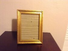 """Picture Frame hold 5""""x7"""" Pictures Gold Color In Wood"""