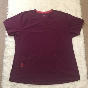 Carhartt Force Women's Scrub Top Size XL Purple Nurse Doctor Dentist MA