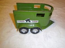 Vintage pressed steel Nylint Toys horse trailer made in Rockford ILL USA