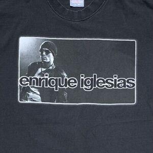 Vtg 2002 Enrique Iglesias Don't Turn Off The Lights Concert Tour T Shirt Adult L