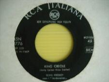 ELVIS PRESLEY KING CREOLE / DIXIELAND ROCK  0776 ITALY 1959 45 GIRI 7 COME NU0VO