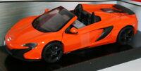 Motormax 1/24 Scale Metal Model 79326 McLaren 650s Spider - Orange