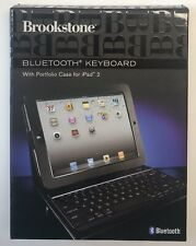 Bluetooth Keyboard with Portfolio Case for iPad 2 Tablet Black New with Box