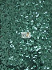 MINI DISC SEQUIN NYLON MESH FABRIC - Hunter Green - BY THE YARD DRESS PROM GOWN