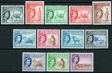 Somaliland 1953 QEII set of mint stamps value to 10 shillings Lightly Hinged