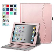 For Apple iPad Multi-Angles Folio Case Cover Stand with Pocket Auto Wake/Sleep