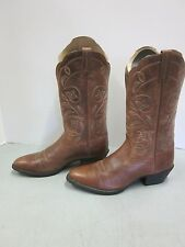 Ariat Boots Women's Heritage Western R-Toe Size 8 Russet Rebel Brown Cowgirl